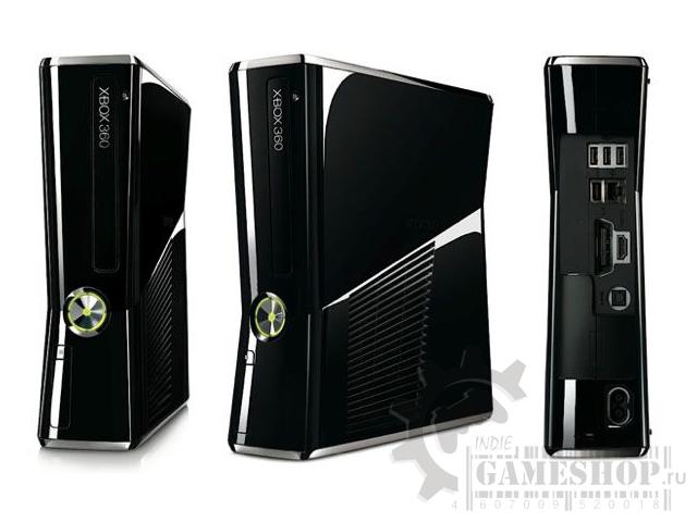 Microsoft Xbox 360 Slim приставка настольная.